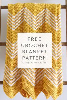 Crochet blanket patterns free 150659550021622052 - Free Pattern – Crochet Gold Front Loop Chevron Blanket Source by Bag Crochet, Easy Crochet Blanket, Crochet Ripple, Crochet Gratis, Crochet Amigurumi, Crochet Motifs, Manta Crochet, Afghan Crochet Patterns, Crochet Home