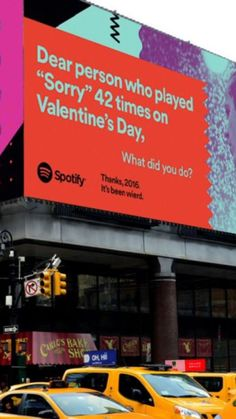 """The new Spotify billboards are gold"""