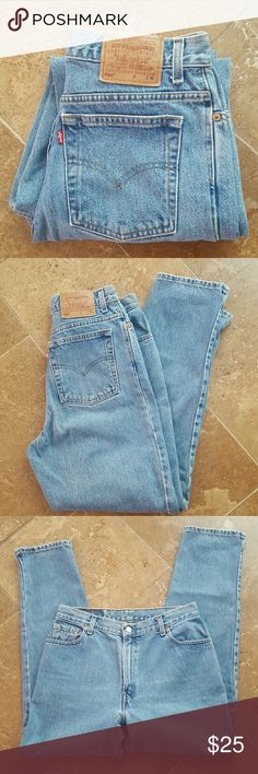 Levi's 550 Jeans 550 Relaxed Fit tapered leg jeans. Waist 30 inches. Length 29 inches. Rise 12 inches. Levi's Jeans