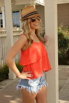 Leah B Boutique | Perfectly Coral Blouse