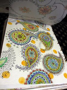 fun doodled paisley from her sketchbook by artist Jane LaFazio Tangle Doodle, Doodles Zentangles, Zen Doodle, Zentangle Patterns, Doodle Art, Paisley Doodle, Motif Paisley, Paisley Design, Paisley Pattern