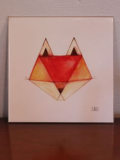 I might be obsessed with this fox. :: Geometric Animals  Fox Print by CatherineLazarOdell on Etsy