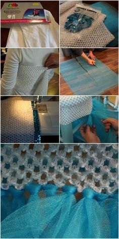 The Easiest DIY Princess Elsa Tutu Dress (EVER) HOW TO MAKE AN EASY ELSA DRESS<br> A inexpensive, super cute, super easy Frozen inspired Elsa tutu dress you can make in under an hour and with very little sewing involved. Diy Tutu Skirt, Diy Dress, Dress Ideas, Tutu Skirts, No Sew Tutu, Elsa Dress, Frozen Tutu Dress, Princess Tutu Dresses, Baby Tutu Dresses