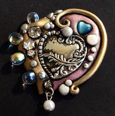 Polymer Clay Creations, Polymer Clay Crafts, Resin Crafts, Polymer Clay Necklace, Polymer Clay Pendant, Beaded Jewelry, Handmade Jewelry, Jewellery, Clay Design