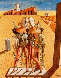 The Red Tower - Giorgio de Chirico - WikiArt.org