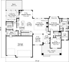 The Lanham Country Craftsman Home has 2 bedrooms and 2 full baths. See amenities for Plan 091D-0489.
