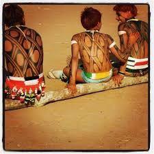 Resultado de imagem para pintura corporal karajá