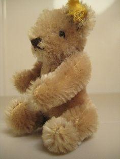 Steiff Vintage Original Caramel Teddy Bear ~ Ear button ~ Jointed Head
