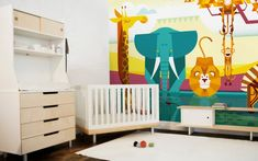 Savanna Jungle Kids Wall Murals - Kids Room Wallpaper, Baby Nursery Wall Decor, Large Custom Mural for Childrens Bedroom Kids Wall Murals, Murals For Kids, Kids Wall Decor, Nursery Wall Decor, Bedroom Wall, Nursery Ideas, Room Decor, Kindergarten Wallpaper, Kids Room Wallpaper
