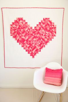 loving this heart quilt by V and Co