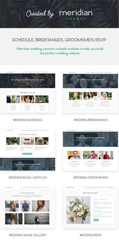 Meridian Wedding - Wedding WordPress Theme  + Download