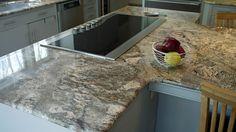 River Bordeaux granite kitchen countertop