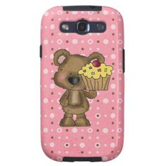 Cupcake Bear Samsung Galaxys3 Vibe case Galaxy S3 Case