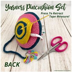 Free Crochet, Knit Crochet, Crochet Hats, Couch Cushions, Yarn Bowl, Teal And Gold, Head Pins, Tape Measure, Yarn Needle