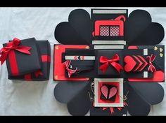 Explosion Box // Birthday Gift // Suprise Box - YouTube