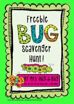 Not a fan of Creepy Crawlies?  Then this is not the activity for you!  An engaging, fun and busy activity suitable for a large group of children... encourage your class to reconnect with nature!  Children work in teams or individually to hunting for Bug related things.... one thing to match every letter of the alphabet