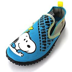 5398505886 Peanuts Snoopy Boys Teal Aqua Socks Water Shoes Water Shoes For Kids