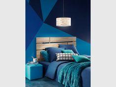 Nuance de bleu turquoise pour une chambre contemporaine - Idées pour une chambre bleue