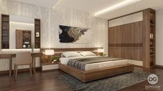 Simple Bedroom Design, Wardrobe Design Bedroom, Bedroom Bed Design, Bedroom Furniture Design, Home Bedroom, Bedroom Decor, Modern Luxury Bedroom, Luxurious Bedrooms, Sliding Door Wardrobe Designs