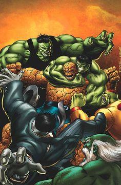 The Thing Fantastic Four vs Hulk | ... its a robot fight, but still, it's Dan Slott and it's fantastic