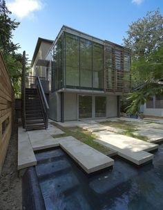 yoga studio and garden. unfinished. interloop architecture.