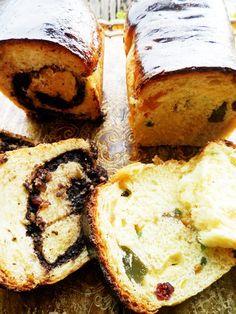 Cozonac de post cu nuca, rahat sau fructe confiate Sweet Bread, Baked Potato, Camembert Cheese, French Toast, Deserts, Dairy, Baking, Vegetables, Breakfast