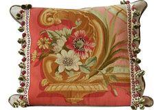 French Floral Aubusson    Pillow on OneKingsLane.com