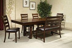 Intercon Kona Solid Mango Wood 6 Pc Trestle Dining Set