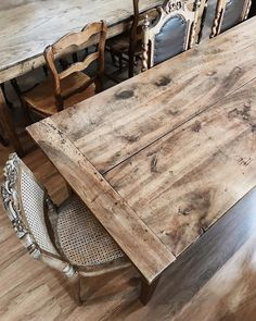 Nothing beats the character construction or functionality of a classic French farm table  we have many to choose from plus countless mix and match antique chairs! #french #farmtable #rustic #rusticdecor #furniture #frenchfarmhouse #farmhouse #farmhousestyle