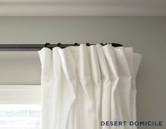 Framing the view with a DIY curtain rod