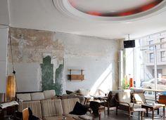 "Wall Murals Collage – Bar Design Concept & Illustration Bar/Cafe ""Mein Haus am See"", Berlin Germanyhttp://www.studio-wandelbar.com/"