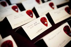 Rock'n Roll Wedding Decorations | DIY wedding idea from Lisa & Nick's Hip Rock Music Party in Chicago ...