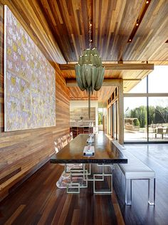 Wood and lucite for kitchen