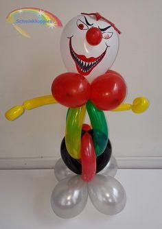 Scary Halloween Clown Ballon.  Schminkkoppies Mariëlle Heuft