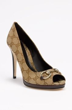 343fc29d2dc Gucci  New Hollywood  Pump available at  Nordstrom These shoes with a Brown  or
