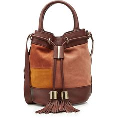 1d4eed57c6 See by Chloé Leather Drawstring Shoulder Bag ( 415) ❤ liked on Polyvore  featuring bags