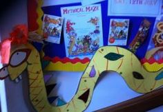 Maze monster at Ashford Library