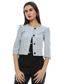 Blazer dama Euphemia Buttons, Blazer, Tops, Women, Fashion, Moda, Women's, Shell Tops, Fasion