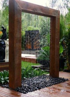 elegant waterfall sculpture Architectural Landscape Design