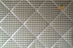 Extra Large 90x60cm Laura Ashley Green Gingham Hand Crafted Fabric Notice / Pin / Memo / Memory Board £55.99