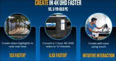 Introducing the new 7th Gen. Intel Core CPUs.  Faster UHD decoding and rendering.  The new chips add HEVC 10-bit decode capability, which should let you play back 4K ultra-HD video without any hiccups. Intel also added VP9 decode capability to the 7th-Gen Core chips to boost power efficiency when you're watching those 4K and 360-degree videos while also performing other tasks.