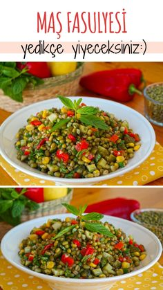Mung Bean Salad (with video) – Delicious Recipes Prebiotic Foods, Clean Eating For Beginners, Clean Eating Meal Plan, Wie Macht Man, Low Carb Vegetables, Most Delicious Recipe, Appetizer Salads, Bean Salad, Turkish Recipes