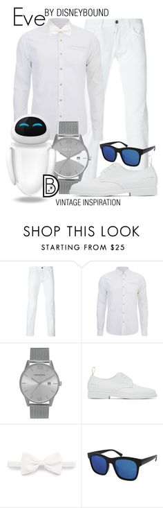 """""""Eve"""" by leslieakay ❤ liked on Polyvore featuring Scotch & Soda, Common Projects, Brioni, vintage, men's fashion, menswear, disney, disneybound and earthday"""