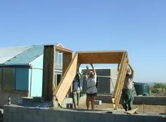 Building a Straw Bale House - Photographs of all phases of construction