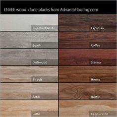 minwax stain chart | Advanta Envee Loose Lay Wood Planks - Garage Flooring LLC #WoodFlooring