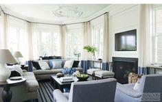 Greenwich Connecticut Colonial Revival home was designed by the talented interior designer, Victoria Hagan. Via Veranda May 2014