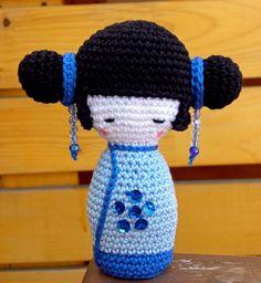 Amigurumi Kokeshi Doll by Amigurumi Torino