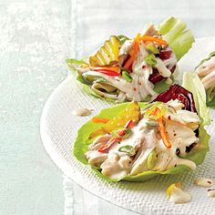 Slow-Cooker Chicken Lettuce Cups | These cups pair the freshness of a salad with the heartiness of a taco.