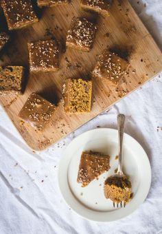 Pumpkin Spice Snack Cake with Maple Glaze   lark & linen