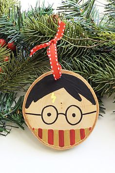 Harry Potter Wood Slice Ornament